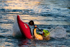 Water Athlete floundering