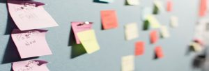 business-graphic with sticky notes